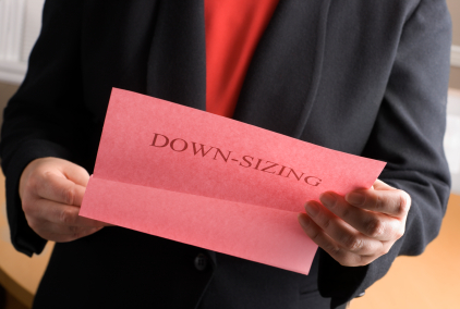 Down sizing and pink slips